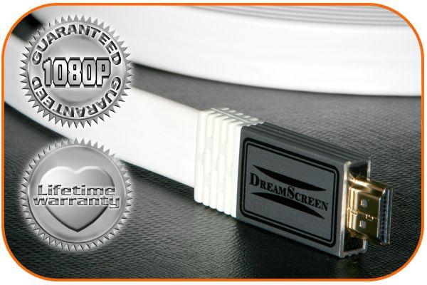 DreamScreen UltraFlat HDMI 1,3 1080P hvit 2,5m