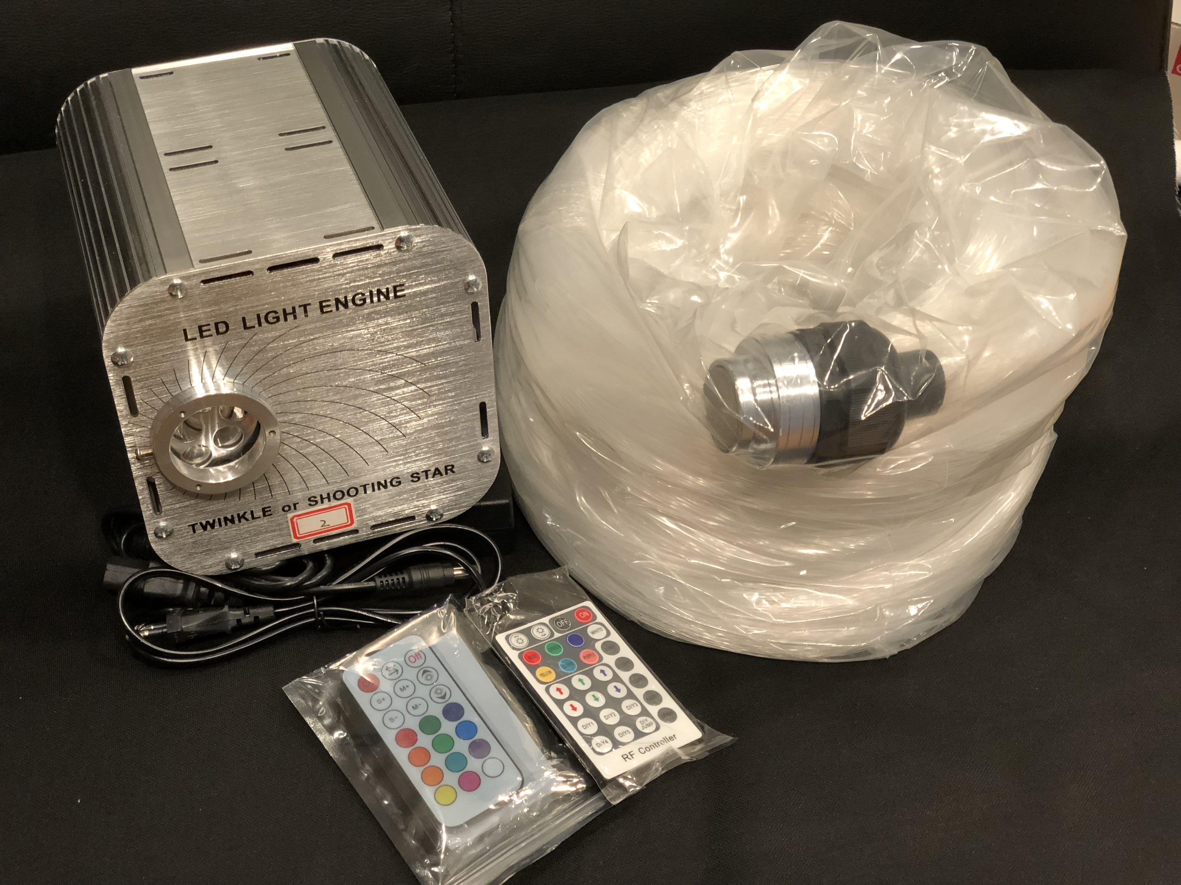OEM Stjernehimmel m. 45W LED engine og wifi styring / 537 fiber på 6m for <36kvm tak