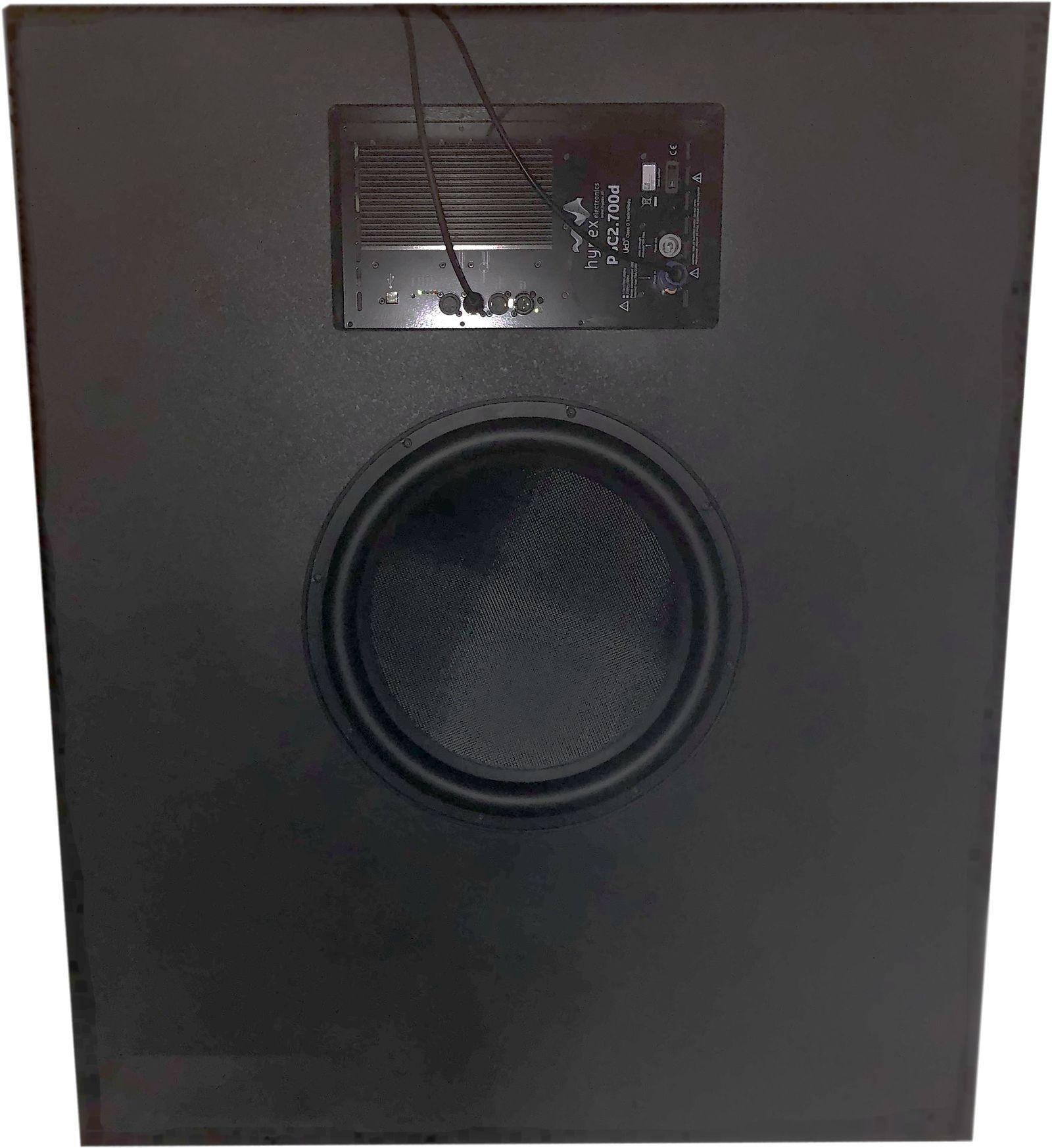 AVshop Montert kit baffelvegg subkasse INKLUDERT 18″ Dayton driver og Hypex amp