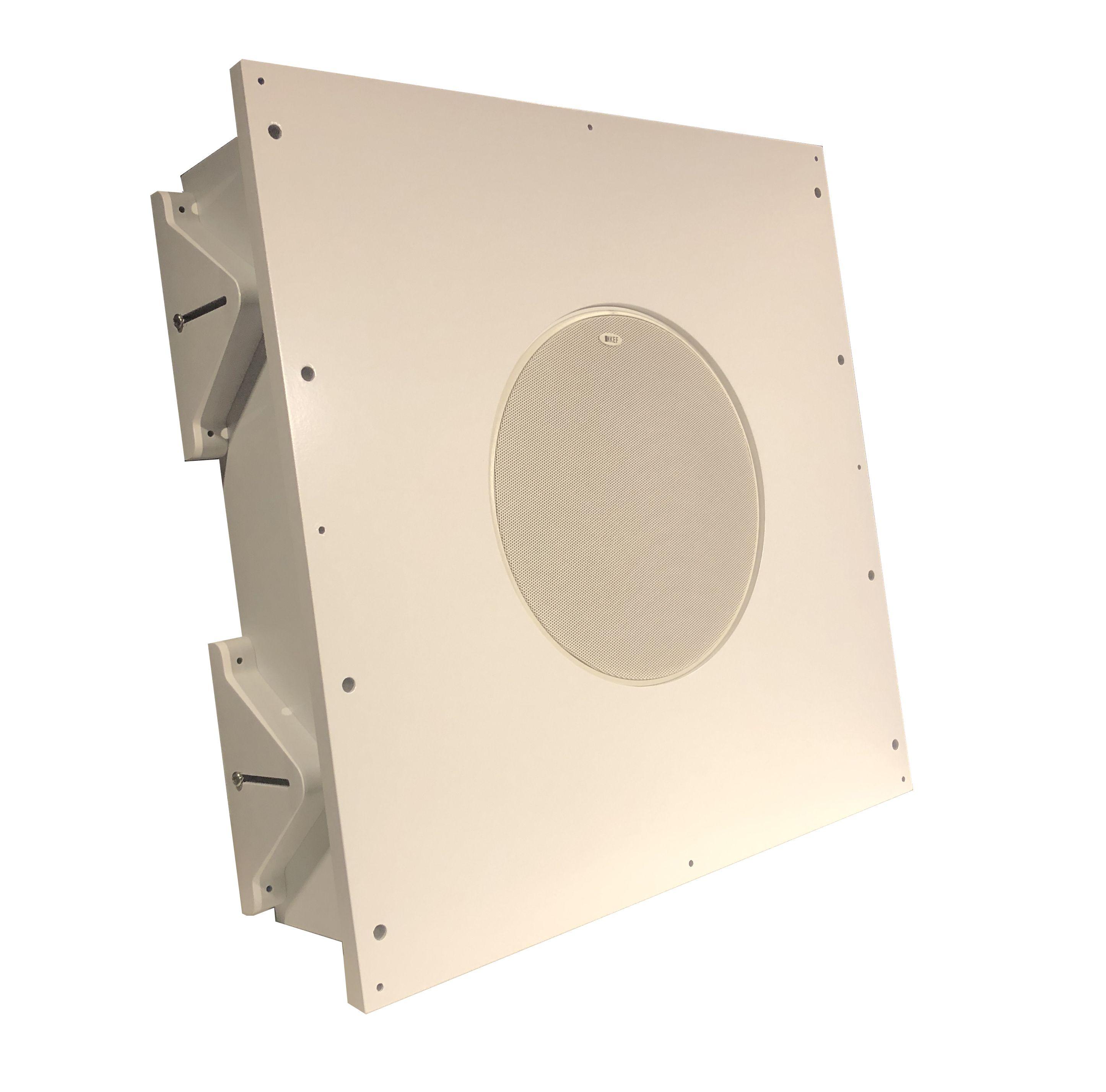 AVshop KEF Ci 200QR inkl. custom in/on-wall / in/on-ceiling kabinett HVIT