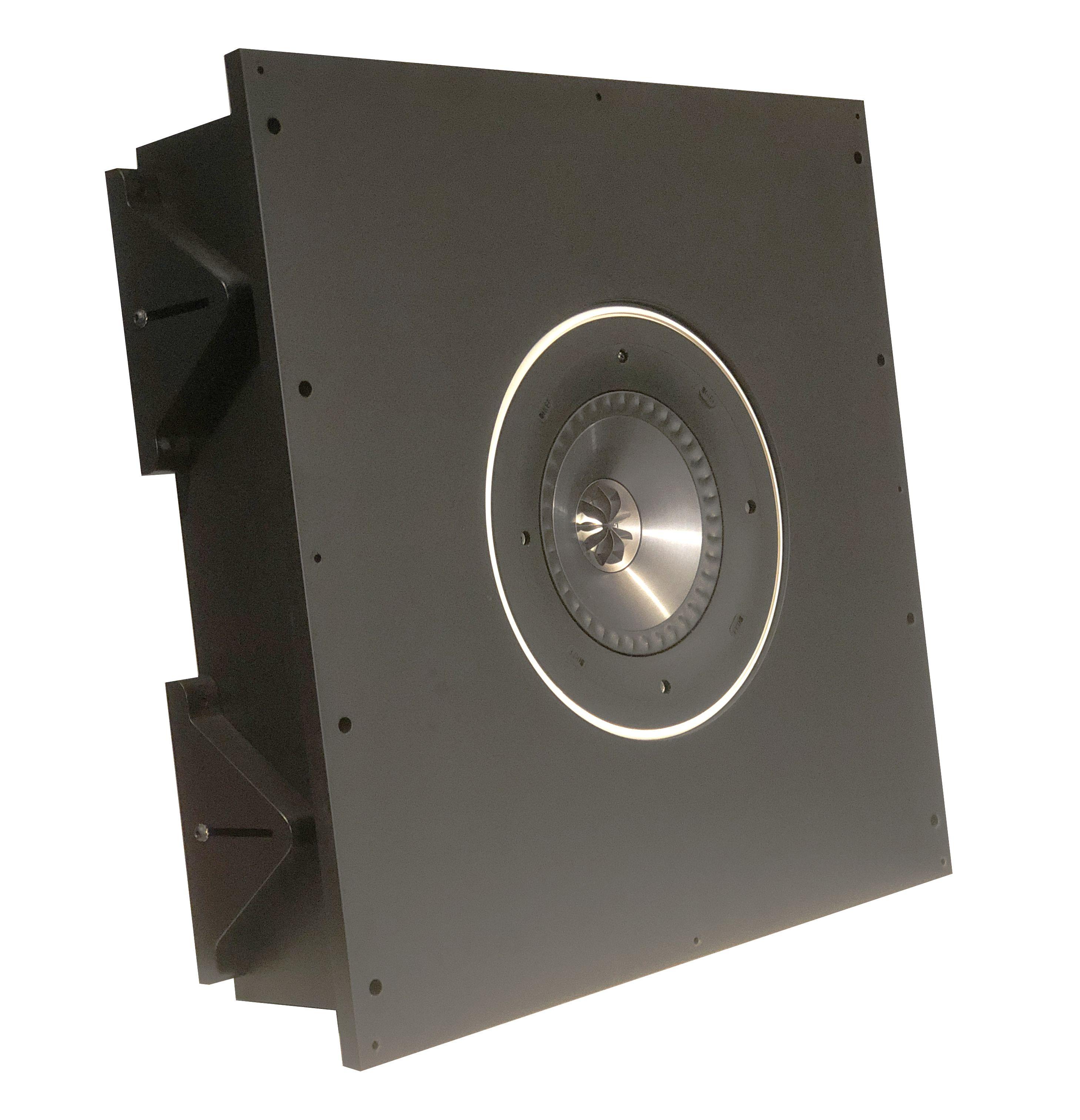 AVshop KEF Ci 200QR inkl. custom in/on-wall / in/on-ceiling kabinett SORT