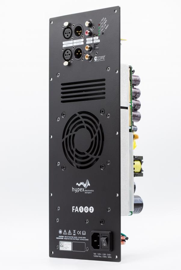 HYPEX FA502 FusionAmp plateforsterker 2x500W med analog og digital inn