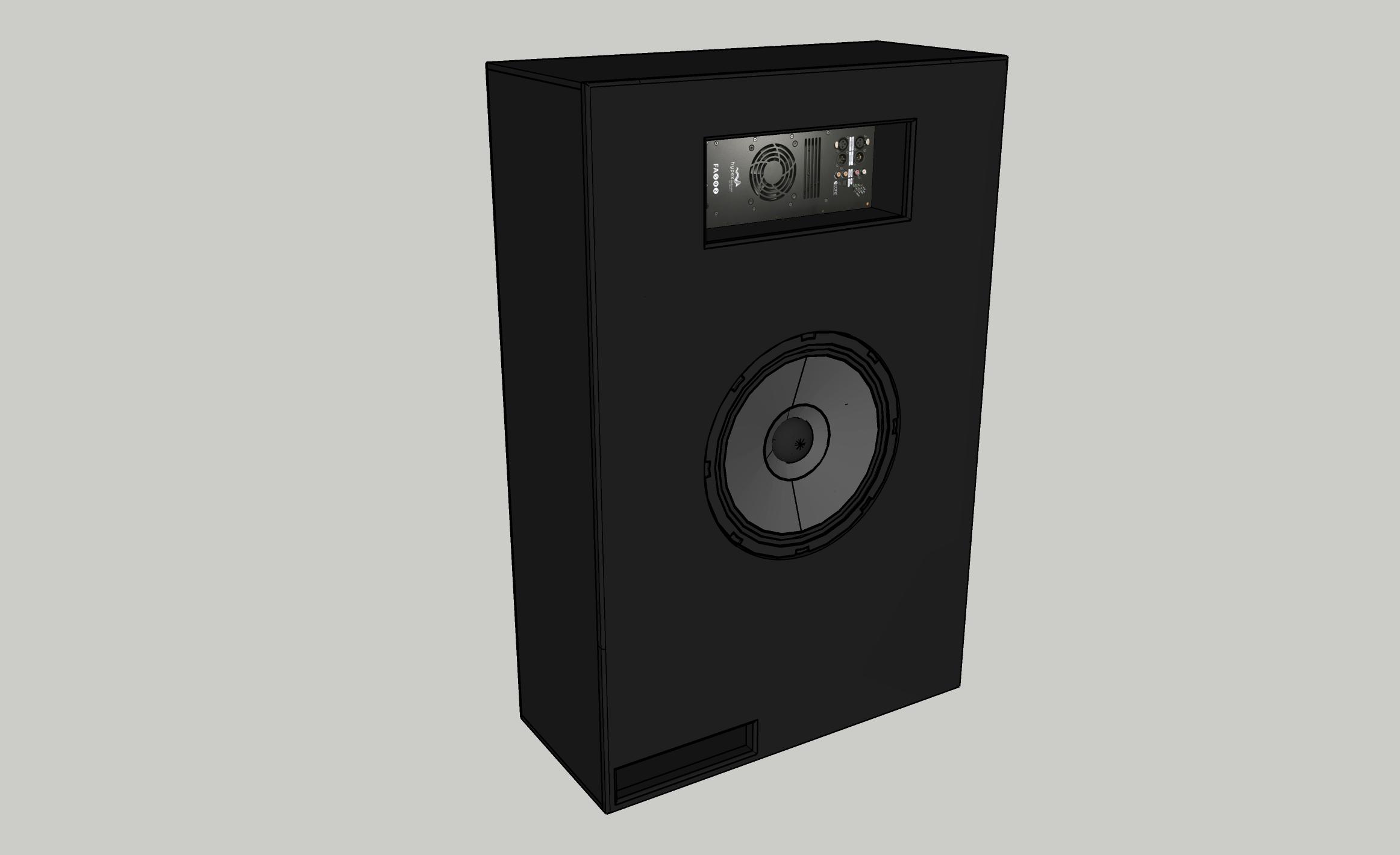 AVshop custom design subwoofer for 15″ driver og Hypex amp PORTET -KUN KABINETT-