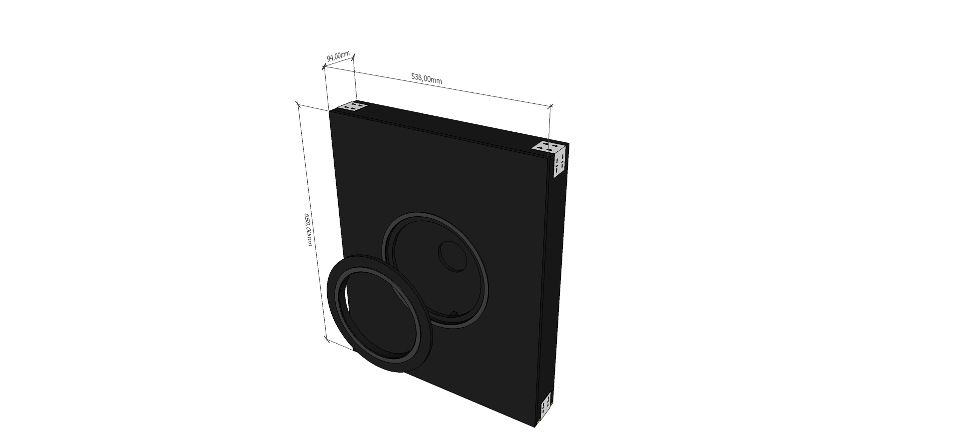 AVshop KEF backbox in-wall / in-ceiling kabinett SLIM -KUN KABINETT-