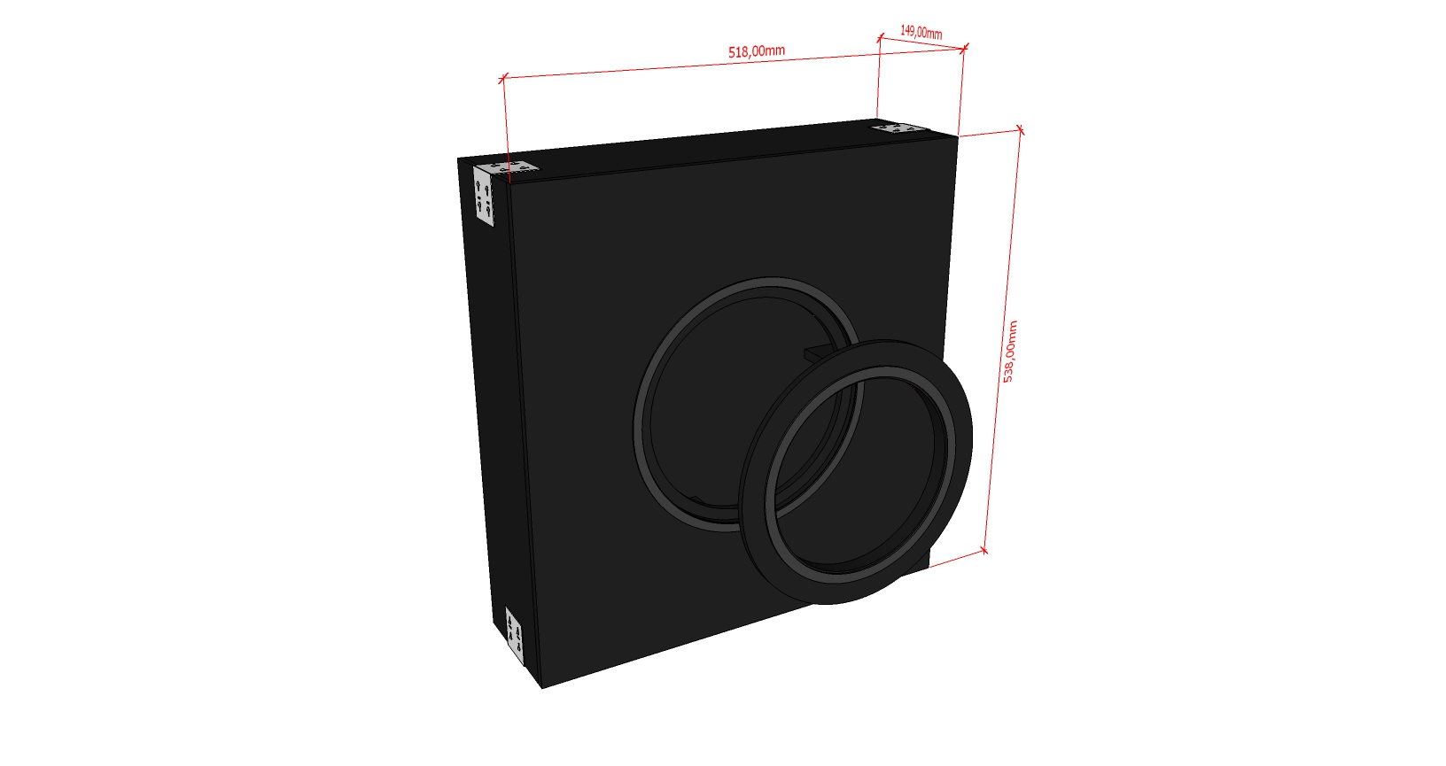 AVshop KEF backbox in-wall / in-ceiling kabinett STANDARD -KUN KABINETT-