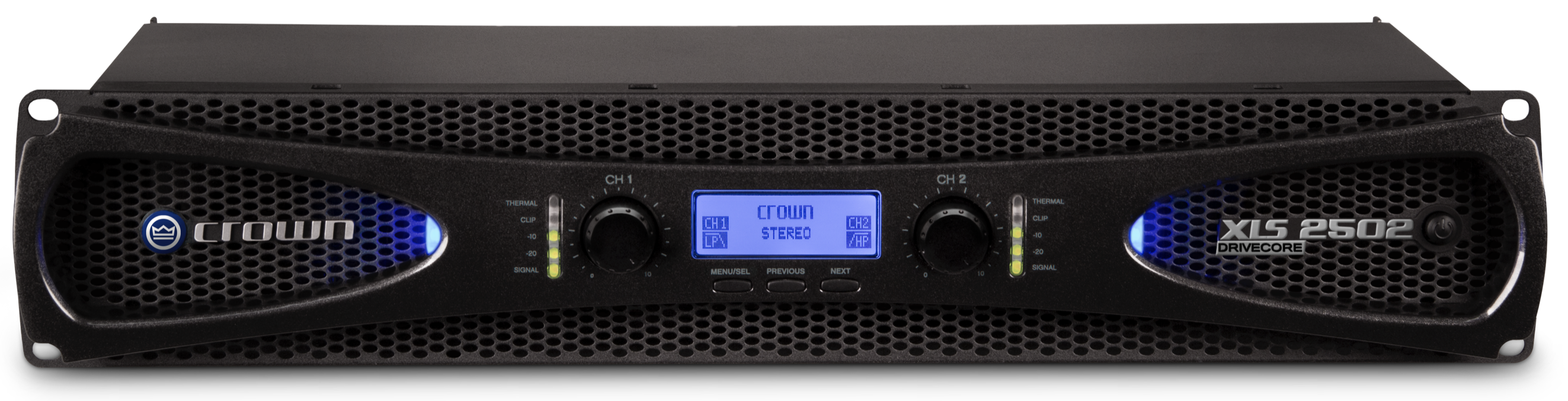 Crown XLS 2502 2x775W (2400W brokoblet) effektforsterker sort