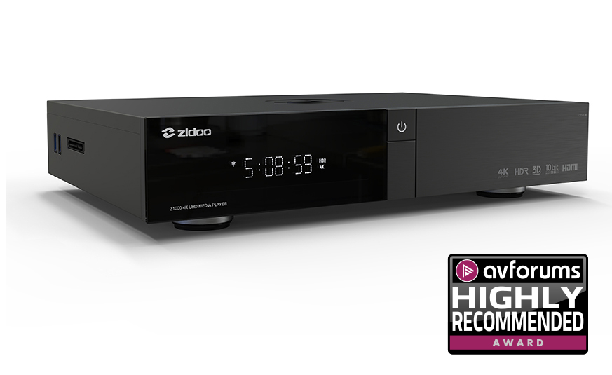 Zidoo Z1000 PRO 4K HDR HDMI 2.0 KODI ANDROID MEDIA PLAYER