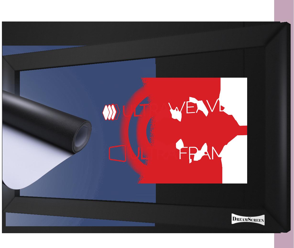 DreamScreen UltraWeave v7 med UltraFrame 3,9m bildebredde 2.40:1 -DEMO!-