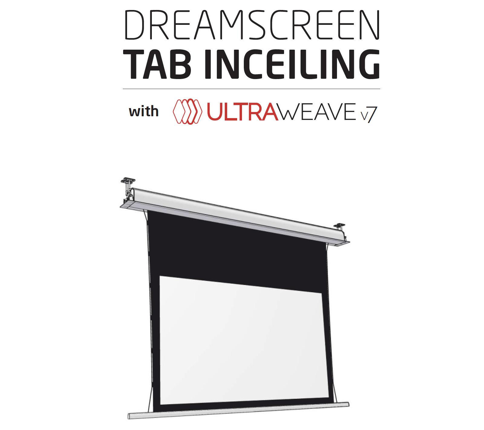 DreamScreen Tab InCeiling with UltraWeave v7 16:9 115″ / 255cm -B-vare / prøve-